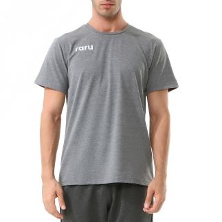 RARU - Raru Erkek Basic T-Shirt FALCO GRİ MELANJ