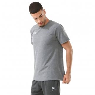 RARU - Raru Erkek Basic T-Shirt FALCO GRİ MELANJ (1)