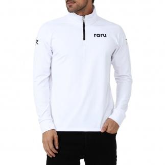 RARU - Raru Erkek Yarım Fermuarlı Sweatshirt URSUS BEYAZ