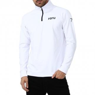 RARU - Raru Erkek Yarım Fermuarlı Sweatshirt VITA BEYAZ