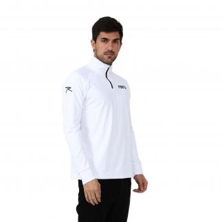 RARU - Raru Erkek Yarım Fermuarlı Sweatshirt VITA BEYAZ (1)