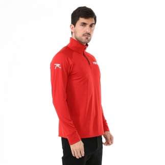 RARU - Raru Erkek Yarım Fermuarlı Sweatshirt VITA KIRMIZI (1)